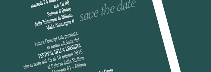 SAVE THE DATE – Presentation Festival della Crescita